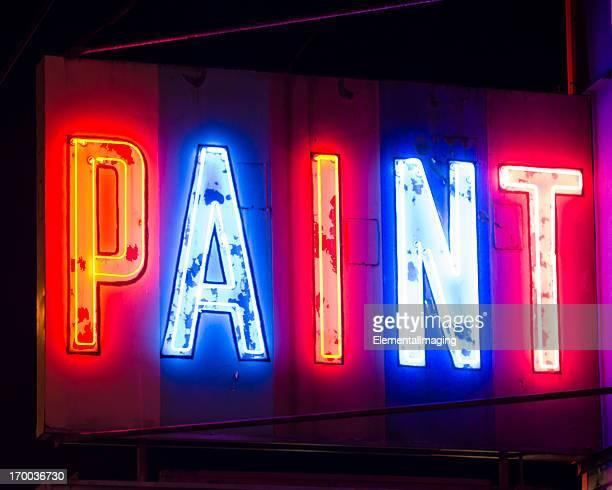 Classique Americana Multi éclatante couleur néon signe de peinture, de nuit