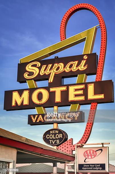 Classic Americana Historic Supai Motel Neon Sign