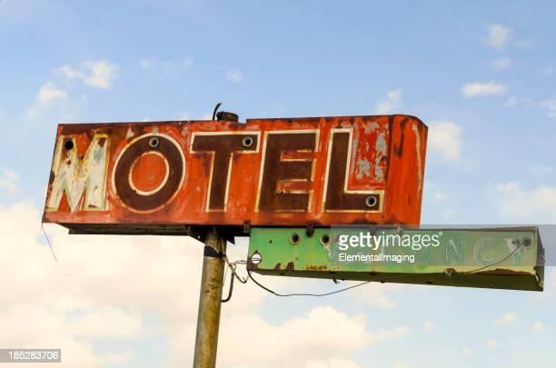 Classic Americana Route 66 Derelict Neon Motel Sign