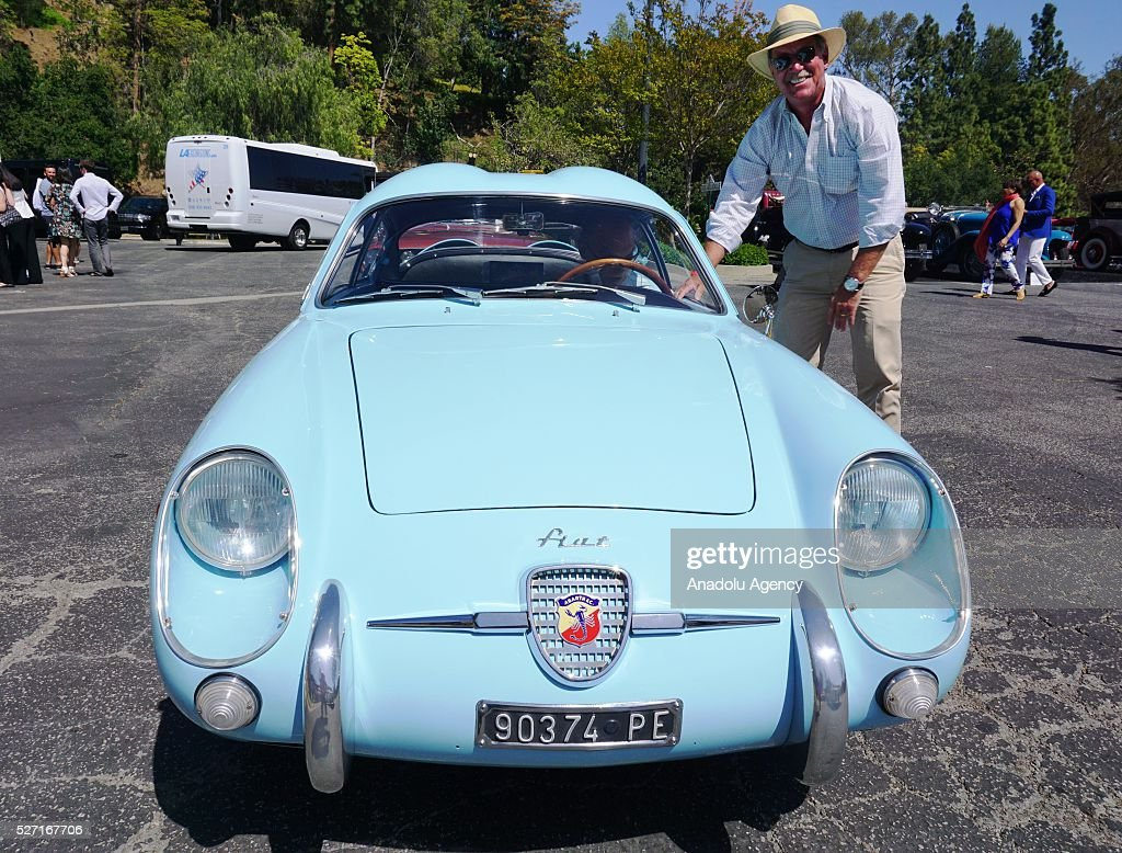Classic automobile is on display during Concours d'Elegance at Greystone Mansion in Beverly Hills, Los Angeles, USA, on May 2, 2016. 140 classic automobiles from 18 different categories are displayed during the Concours d'Elegance classic automobile show.
