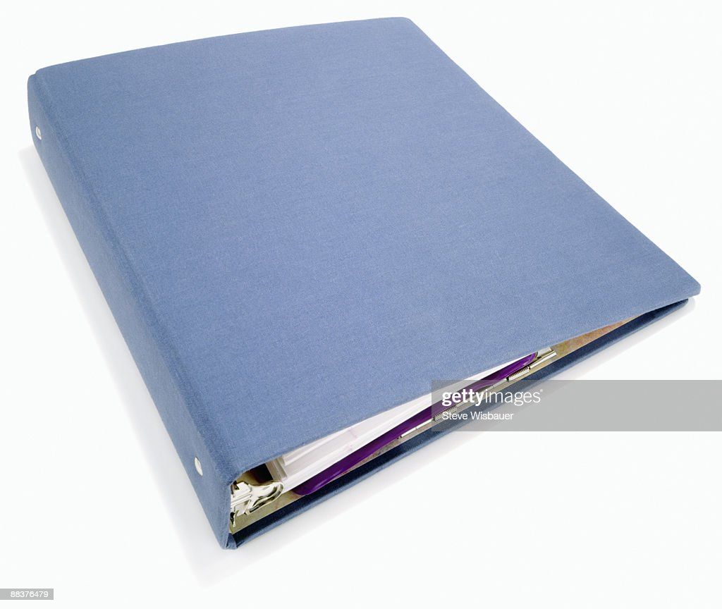 Classic basic 3 ring blue canvas binder for school