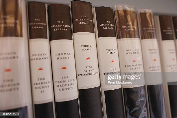 Classic books are displayed in the library at a secondary school on December 1 2014 in London England Education funding is expected to be an issue in...