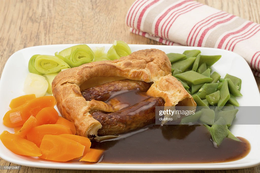 Classic British Toad In The Hole Stock Photo | Getty Images