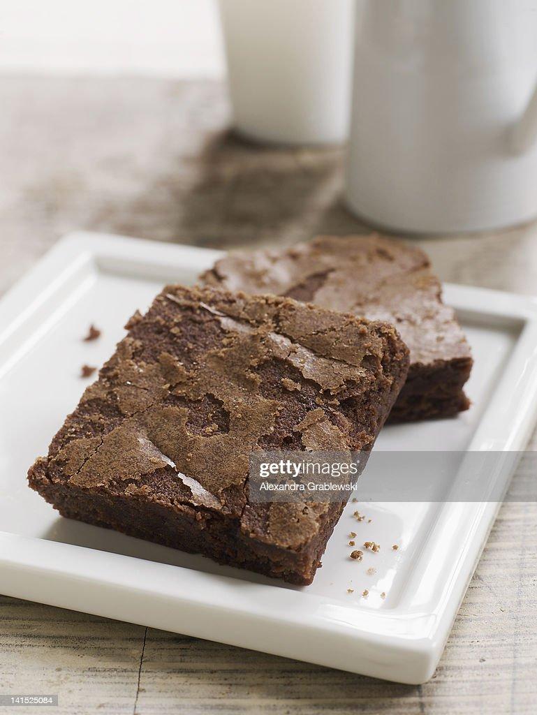 Classic Brownie : Stock Photo