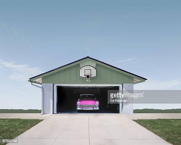 Classic Car in Suburban Garage