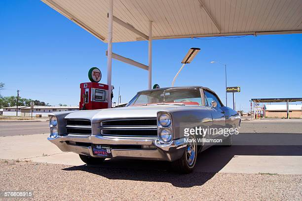Classic car on Route 66.