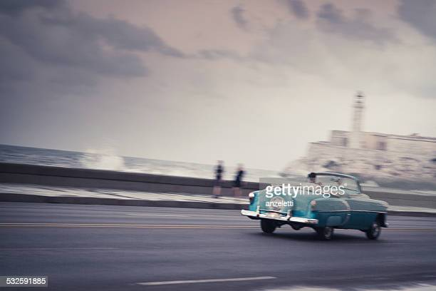 Classic car on the Malecon in Havana, Cuba