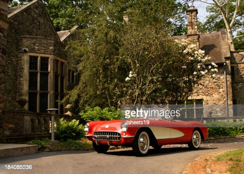 Classic Car & Stone House