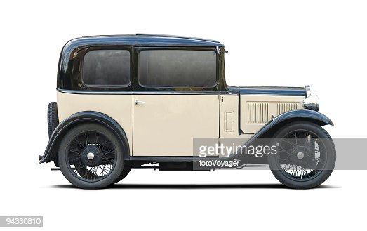 Classic car with clipping paths