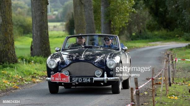 Classic cars are on display at the eighth edition of the Zoute Rally classic car event in KnokkeHeist Belgium on October 7 2017 During the twoday...