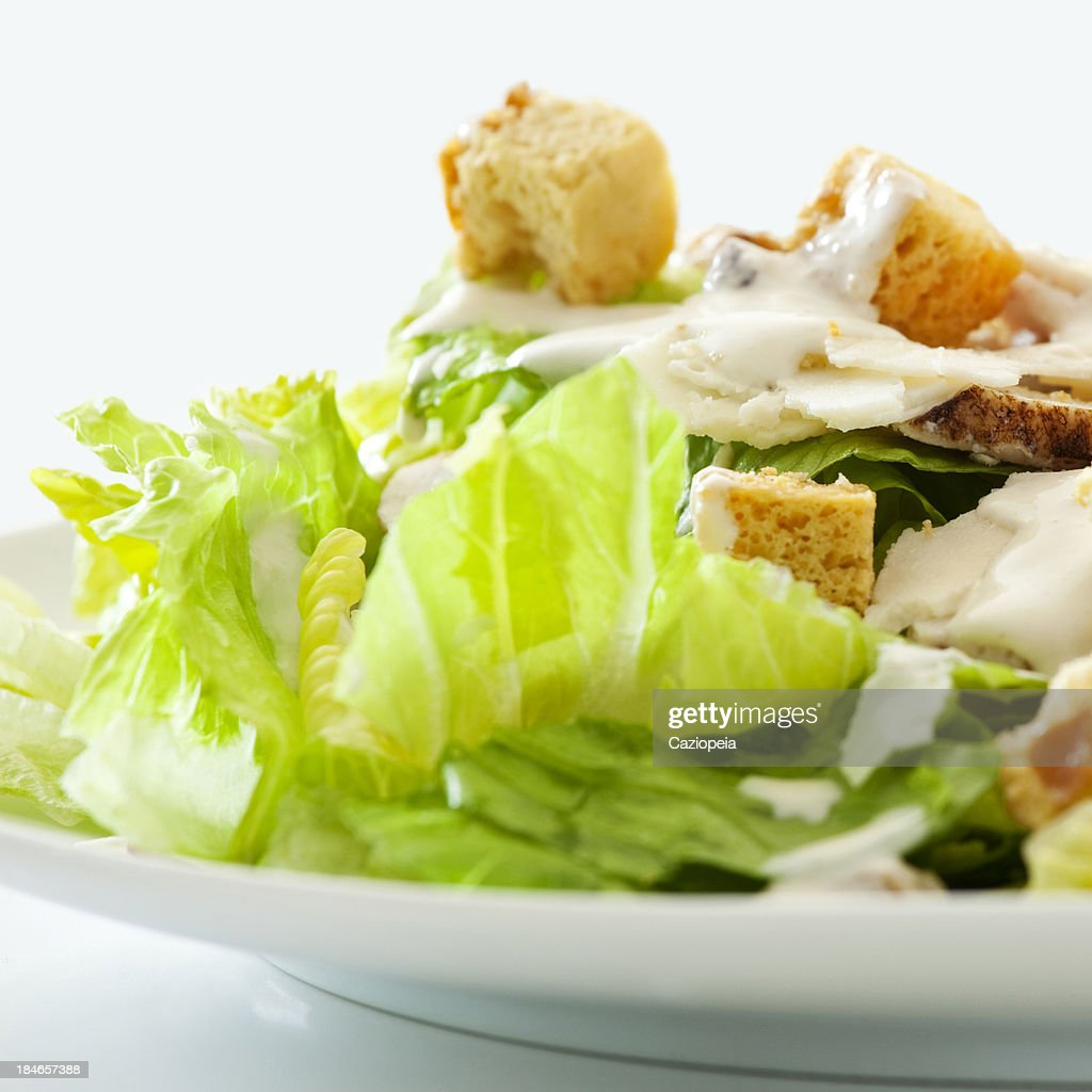 Classic Chicken Caesar Salad : Stock Photo