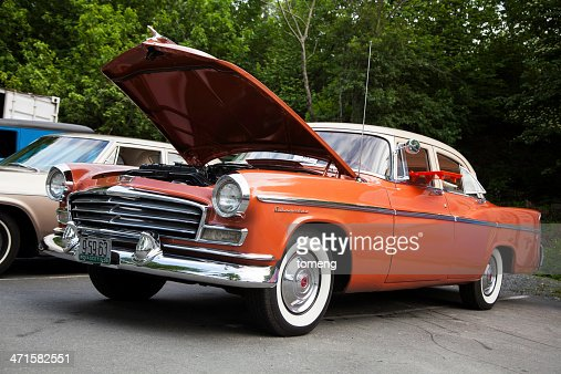 Classic Chrysler with Hood Up