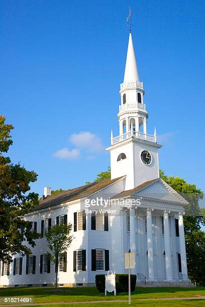 Classic church with steeple in Litchfield CT