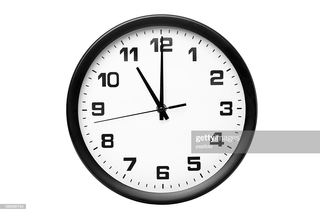 Classic clock on wall