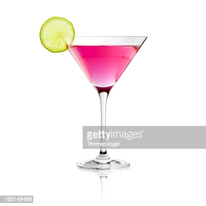 Classic Cosmopolitan Drink with Lime Decoration - Cocktail Glass ...
