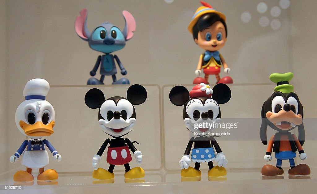 Classic Disney figures are displayed during the International Tokyo Toy Show 2008 at Tokyo Big Sight on June 19, 2008 in Tokyo, Japan. The show is held until June 22. 120,000 people are expected to visit the show over the 4 days which has 134 toy manufacturers from both Japan and abroad showing 36,000 products.