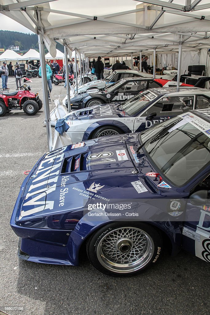 M1 classic endurance racing lined up in the paddock during SpaCLassic May 25th 2013 at SpaFrancorchamps Circuit in Belgium