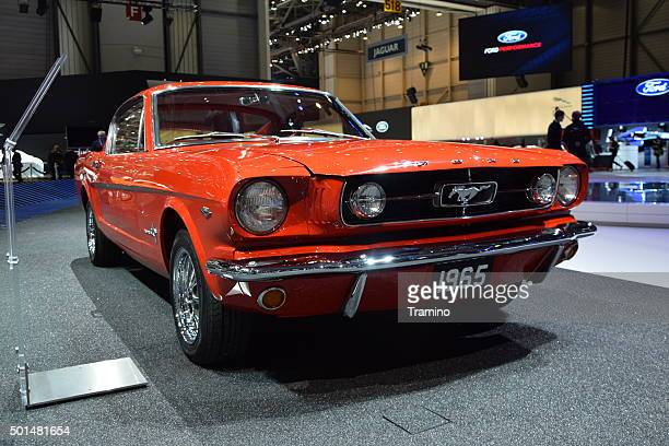 Classic Ford Mustang on the motor show