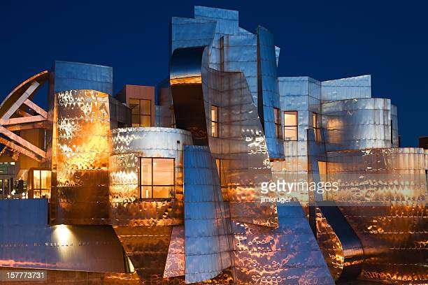 Classic Frank Gehry stainless steel facade.
