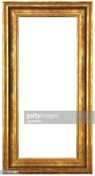 Classic Gold Picture Frame With Clipping Path