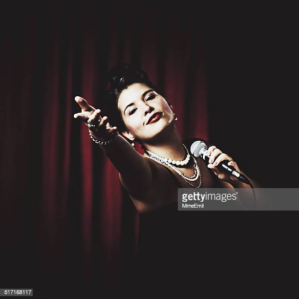 Classic Jazz Singer On Stage