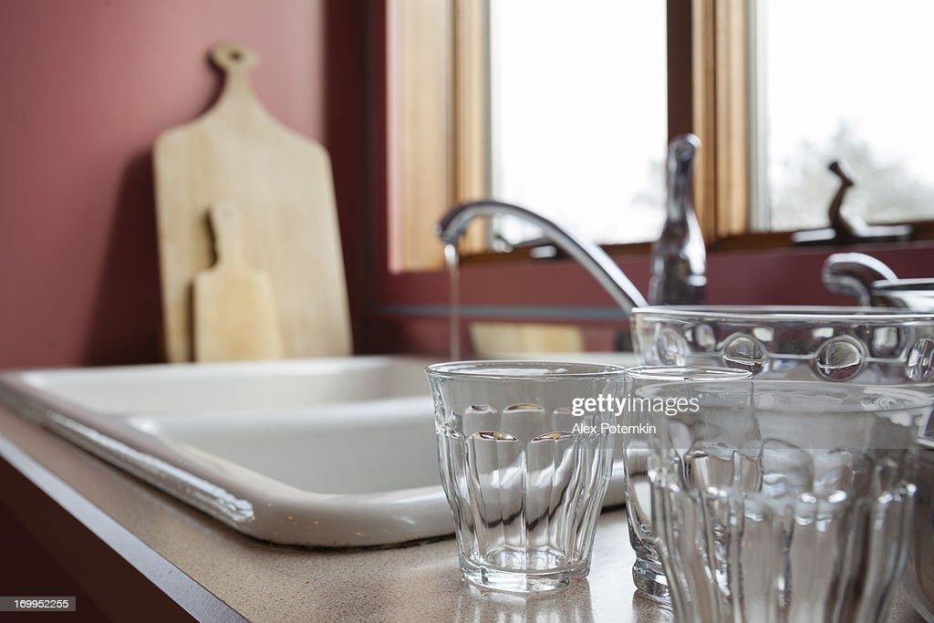 Classic kitchen interior : Stock Photo