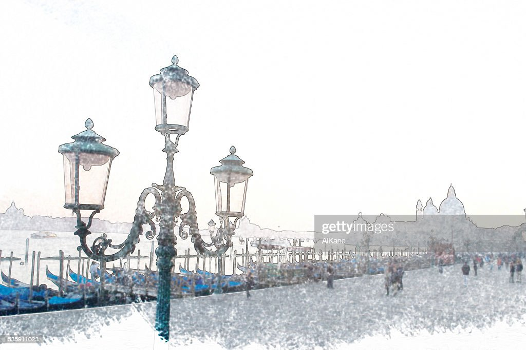 classic lamppost in Venice : Stock Photo