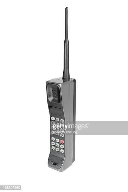 Classique téléphone Mobile-isolé sur blanc avec un Tracé de détourage