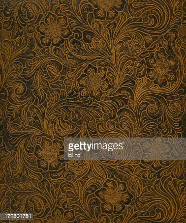classic pattern on faux leather