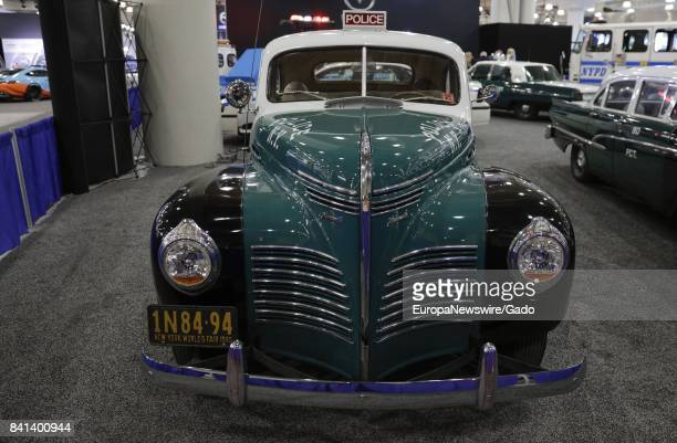 Classic police car at the 2017 New York International Auto Show Press Day at Jacob K Javits Convention Center in New York City New York April 13 2017