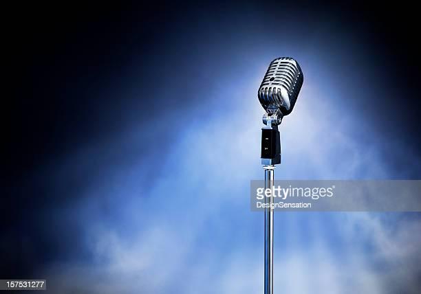 Classic Retro Style Modern Microphone on Stage (XXXL)
