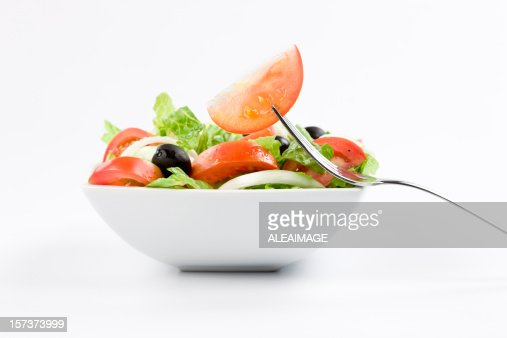Classic salad with fork