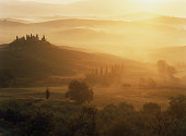 Classic Tuscany Autumn landscape