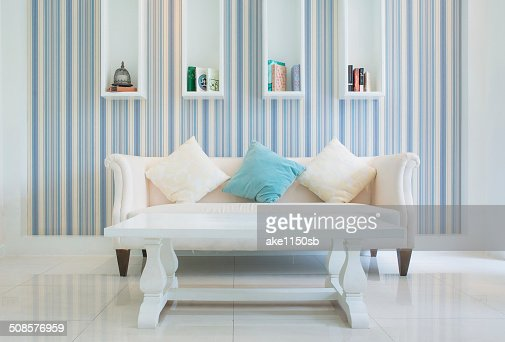Classic Vintage Style Furniture Set in a living room : Stock Photo