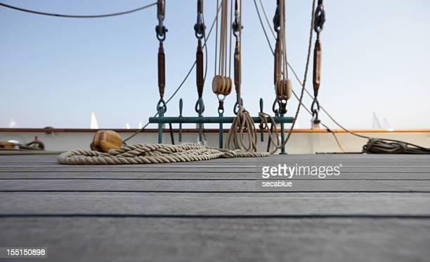 Classic yacht deck