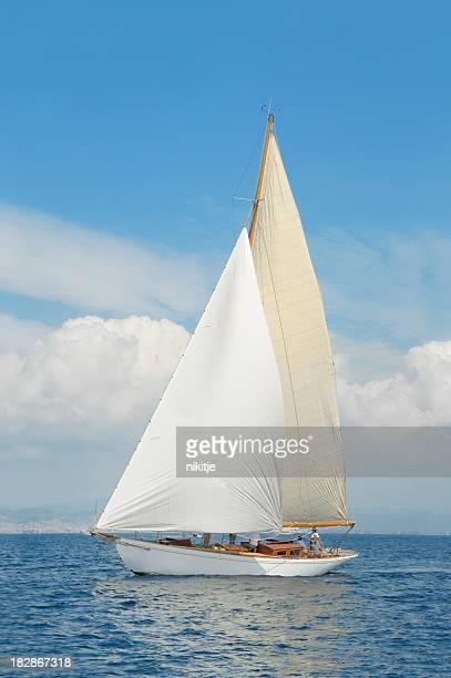 yacht classique Pendant une compétition,