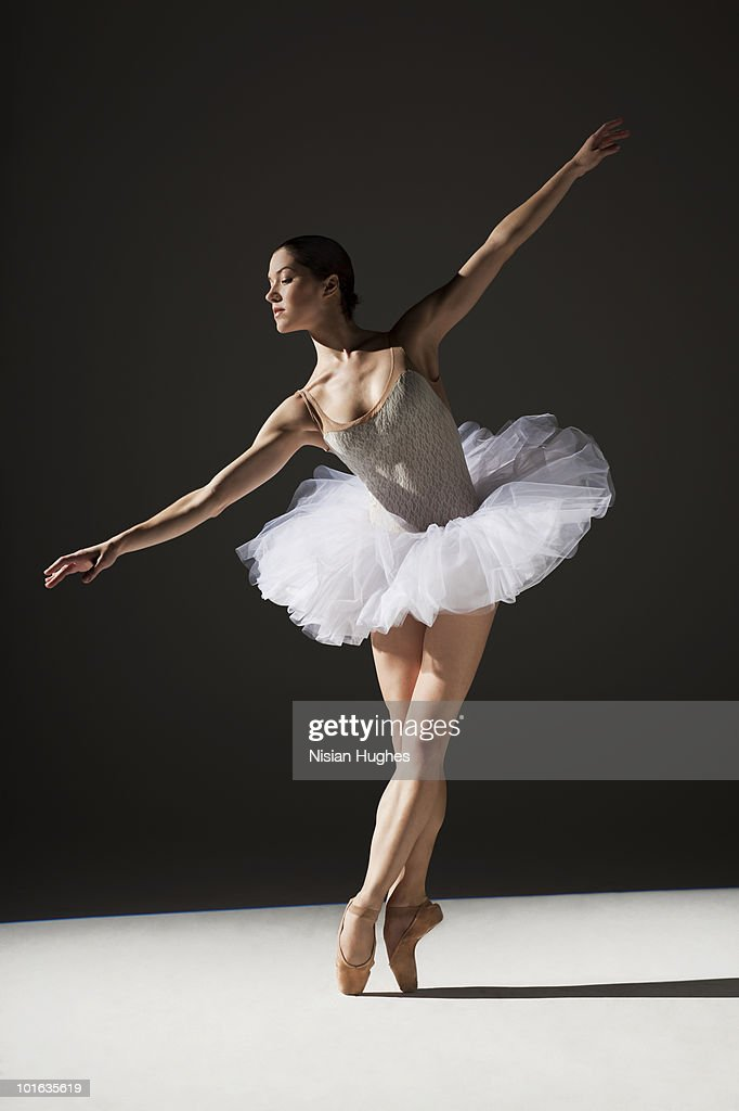 classical ballerina on point : Stock Photo