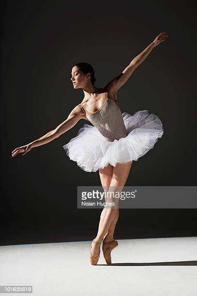 classical ballerina on point