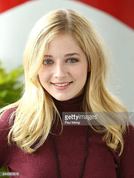 Classical crossover star Jackie Evancho poses for a photo during A Capitol Fourth Rehearsals at US Capitol West Lawn on July 3 2016 in Washington DC