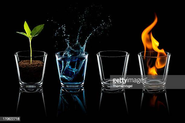 Classical element - Earth Water Air Fire Glass Four