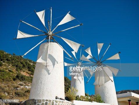 クラシックなギリシャの風車