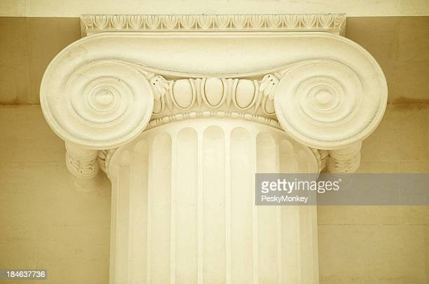 Classical Ionic Column in Creamy Smooth Marble