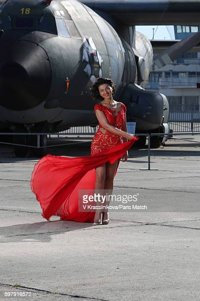 Classical pianist Khatia Buniatishvili is photographed for Paris Match on May 6 2016 in Le Bourget France