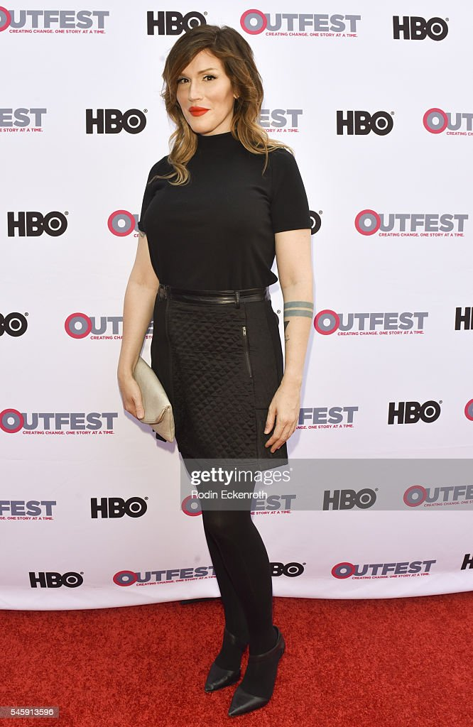Classical pianist Our Lady J arrives at the Amazon Original Series 'Transparent' Panel at Outfest Los Angeles at DGA Theater on July 10 2016 in Los...