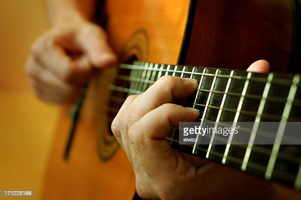 classical spanish guitar being played