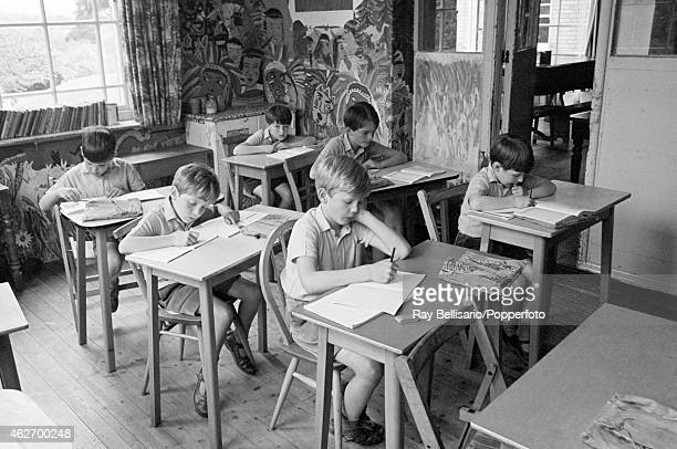 A classroom at Ashdown House School Forest Row East Sussex which Viscount Linley attended pictured on 13th June 1969