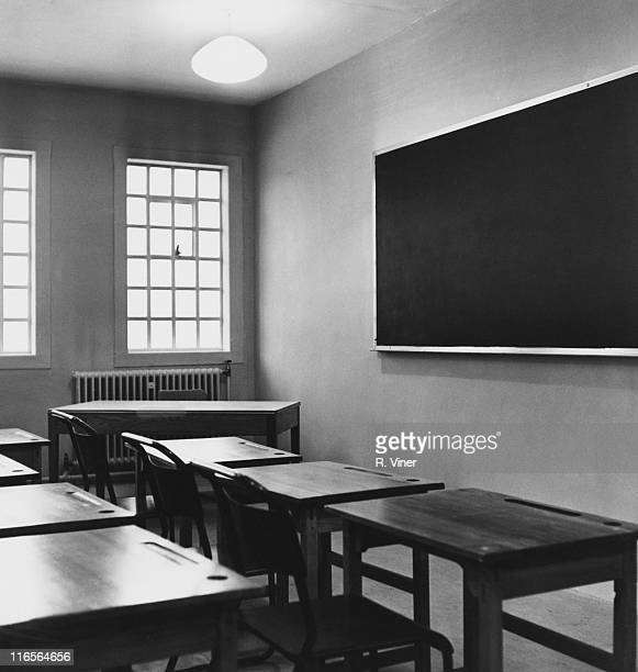 A classroom at the Swinfen Hall borstal near Lichfield Staffordshire 17th January 1963 Swinfen Hall opened a month later in February 1963 and later...