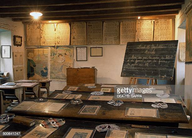 Classroom Farm Pierre Allegre Museum of rural life in 19th century RuynesenMargeride Auvergne France
