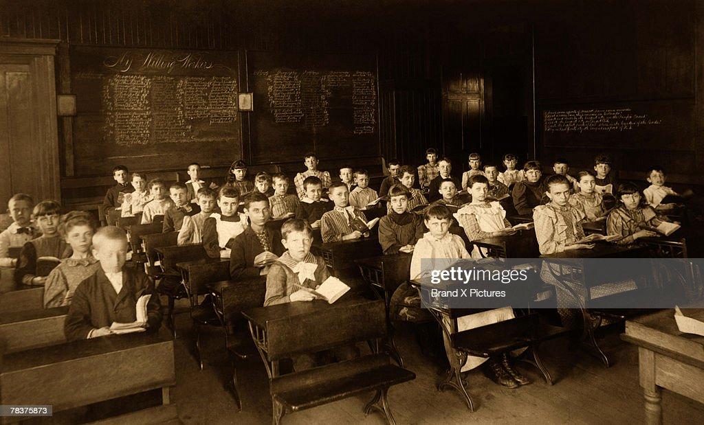 Classroom full of children