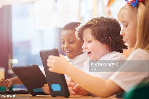 classroom fun learning with tablets